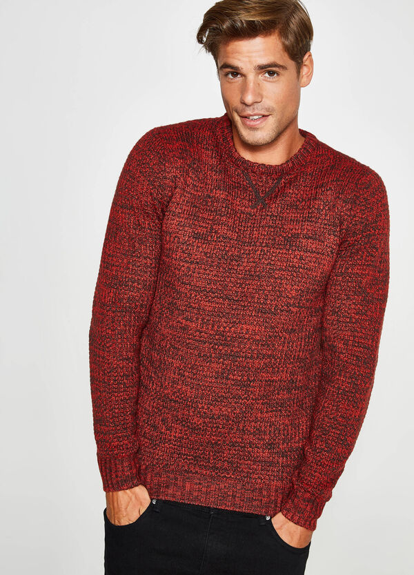Two-tone pullover with raised weave | OVS