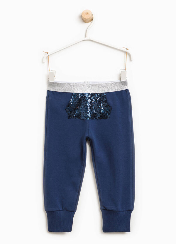 Joggers with sequinned pocket | OVS