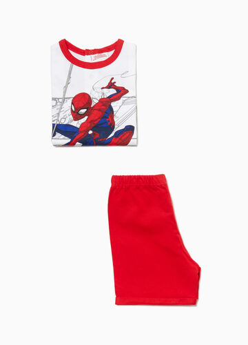 Cotton pyjamas with Spiderman print