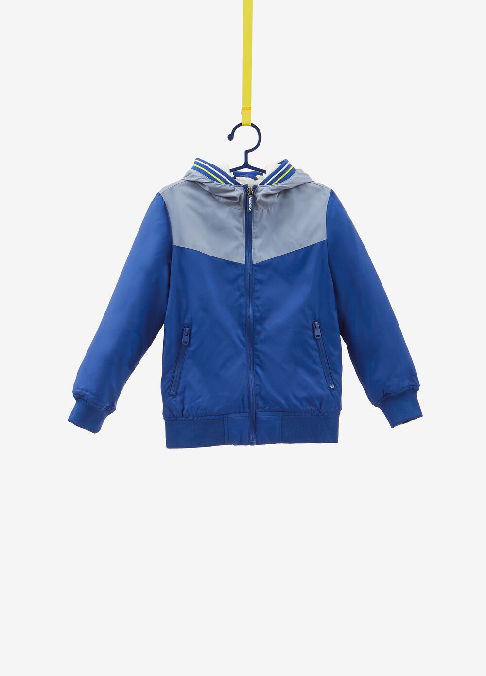 Jacket with hood and insert