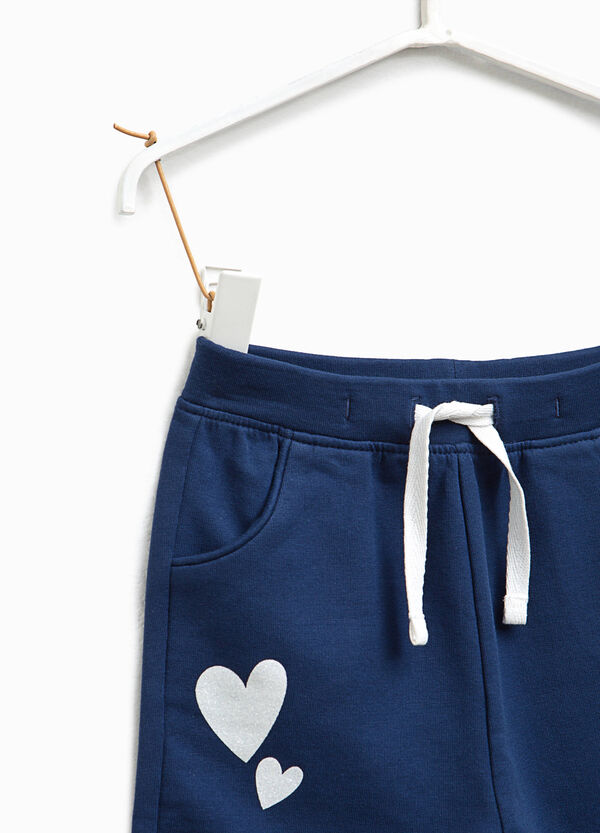 Stretch joggers with hearts print | OVS