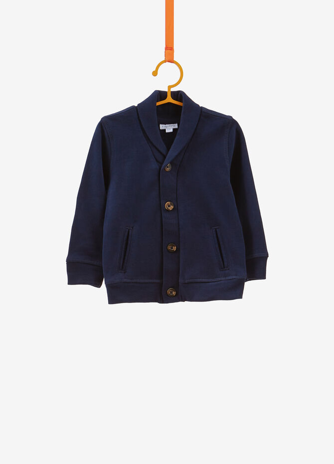 100% cotton cardigan with buttons
