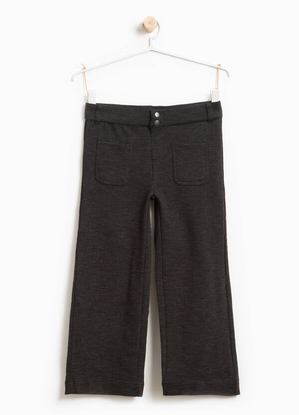 Stretch cotton mélange crop trousers | OVS