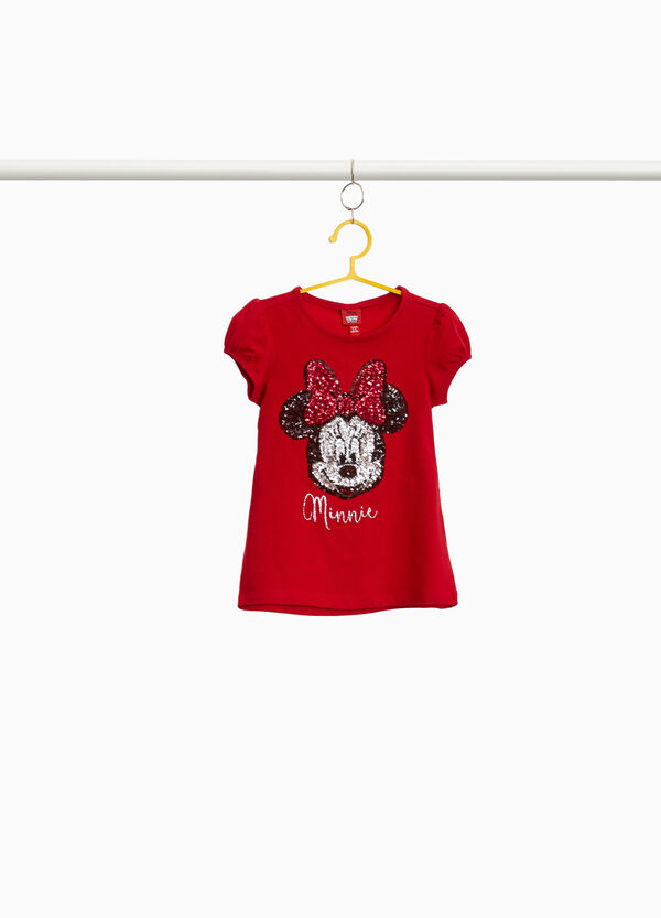 Minnie Mouse T-shirt with puff sleeves