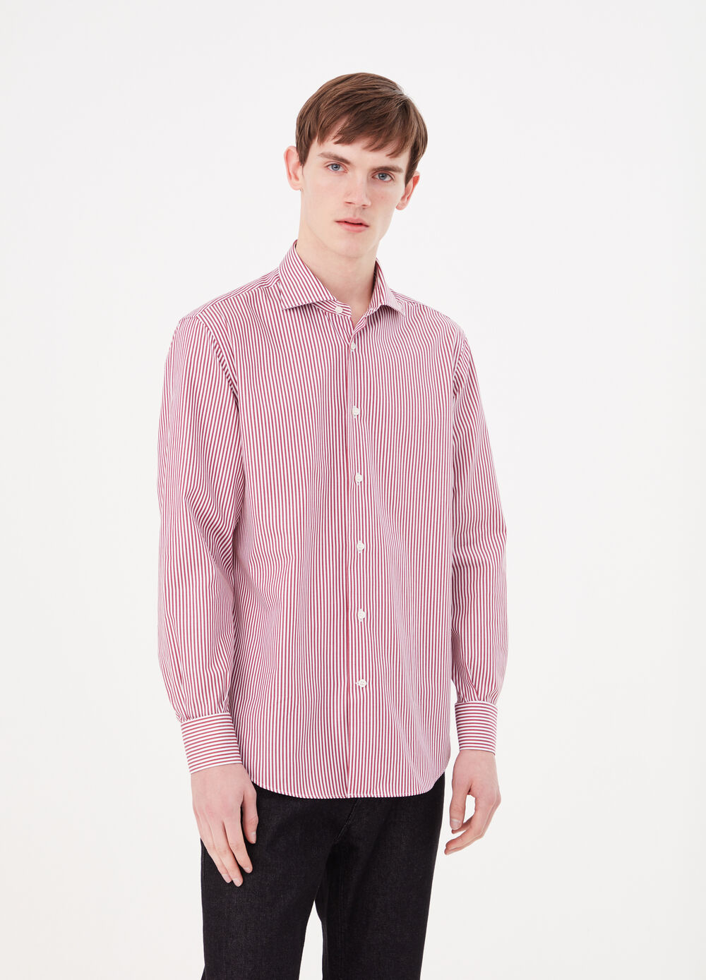 100% cotton twill regular-fit shirt