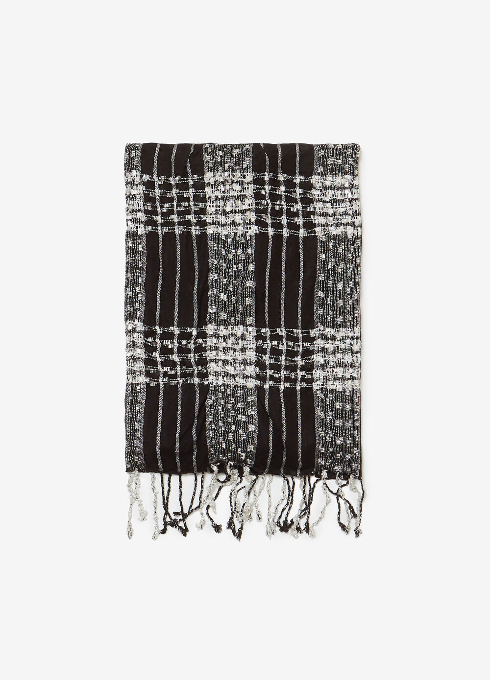Jacquard pashmina with check design