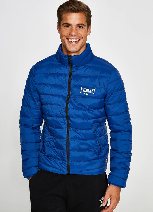 Down jacket with Everlast print