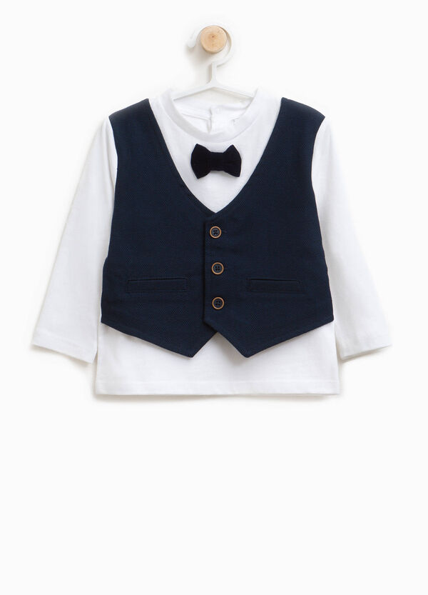 T-shirt with waistcoat and bow tie | OVS