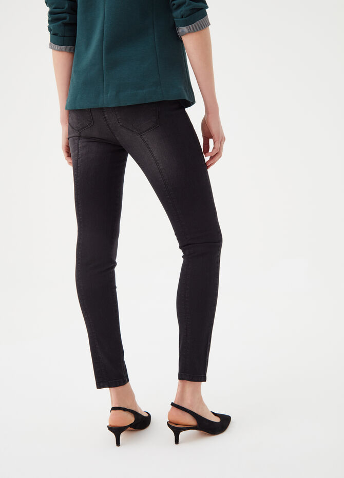 Faded-effect skinny-fit tregging jeans