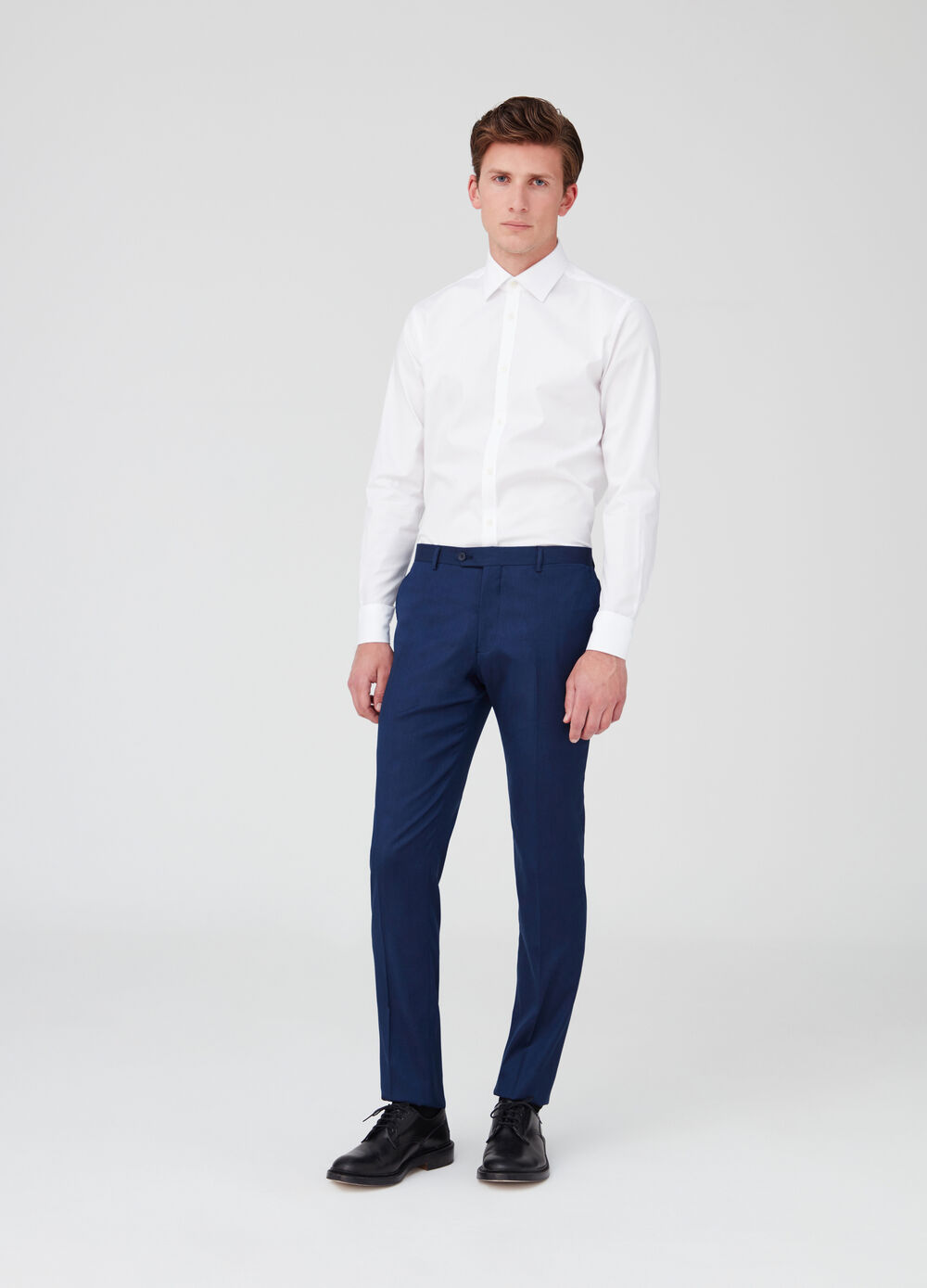 Slim-fit stretch trousers with pockets