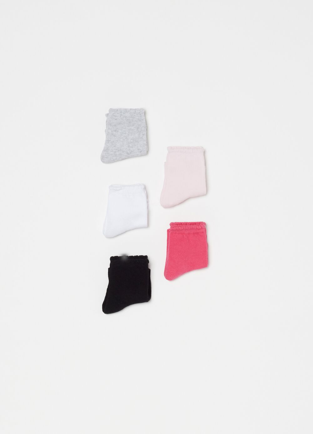 Five-pair pack short socks