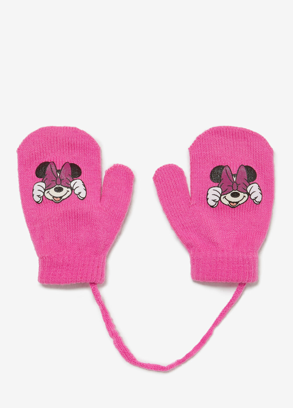 Solid colour Minnie Mouse mittens