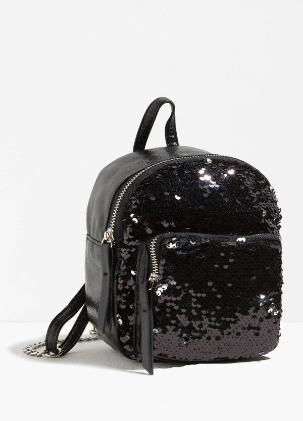 Sequinned backpack with zip | OVS