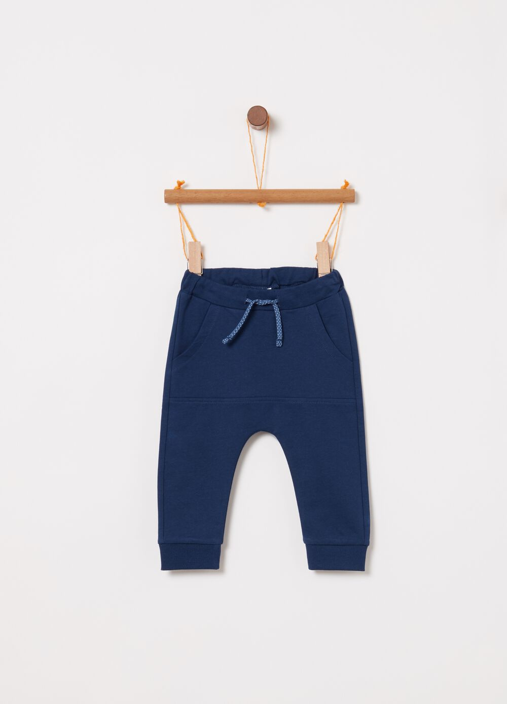 100% cotton trousers with drawstring and pockets