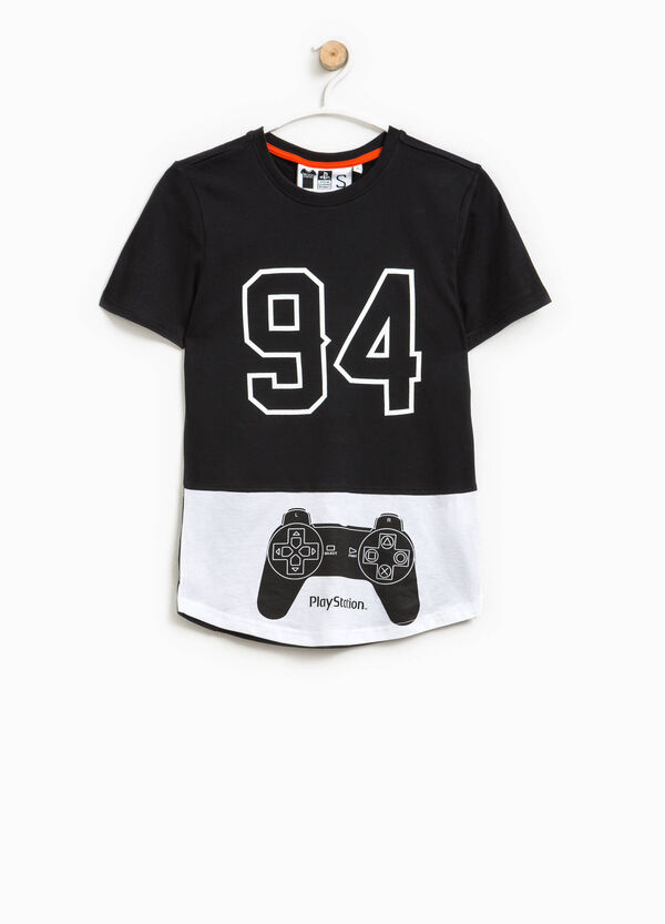 Cotton T-shirt with PlayStation print | OVS