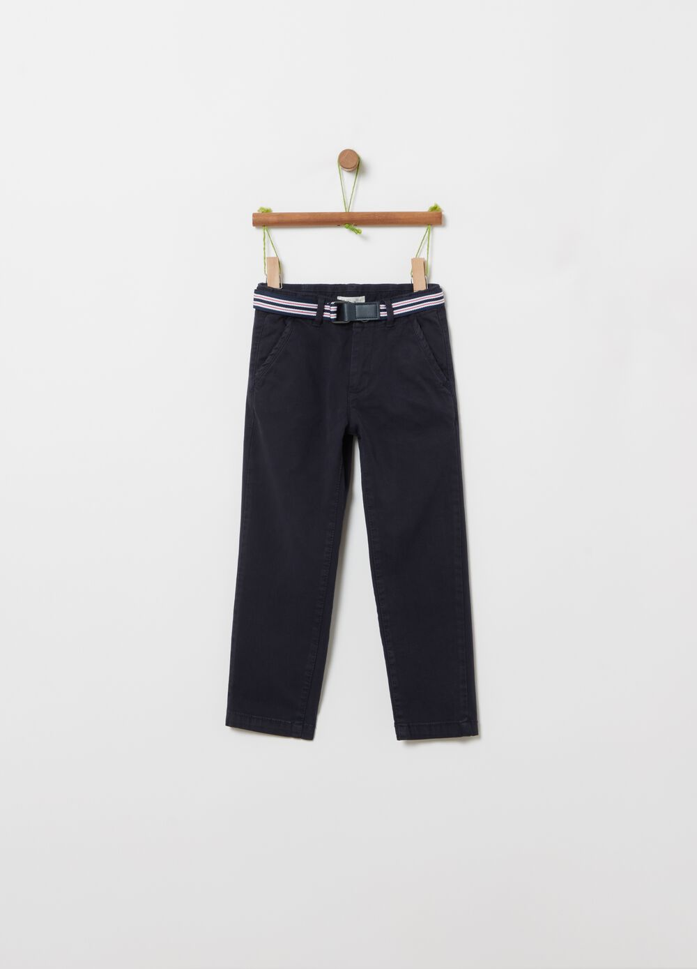 Chino trousers in stretch organic cotton