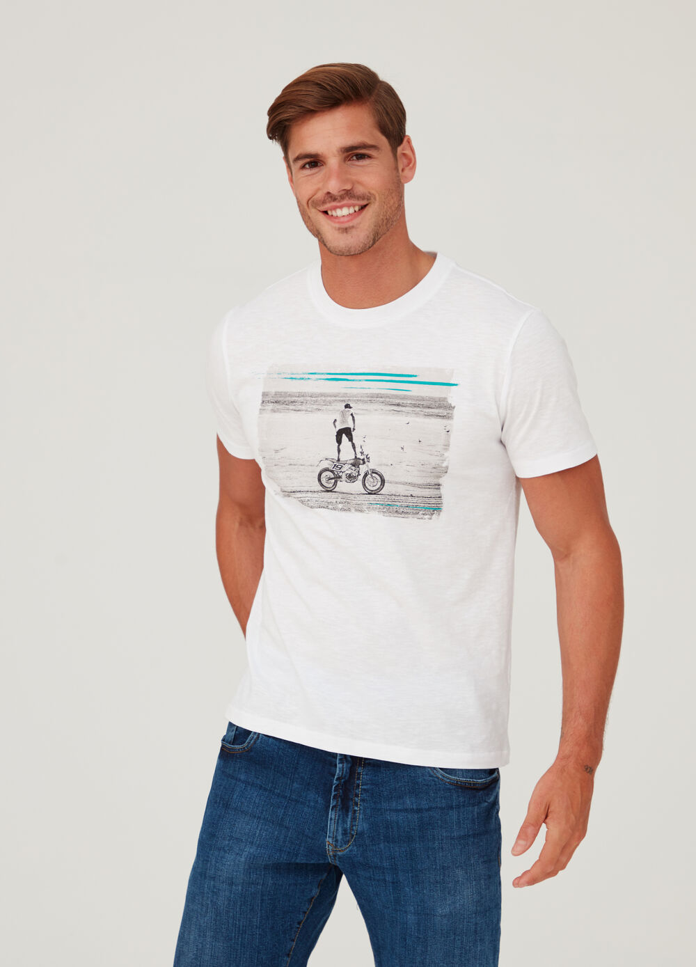 T-shirt in 100% cotton jersey with print