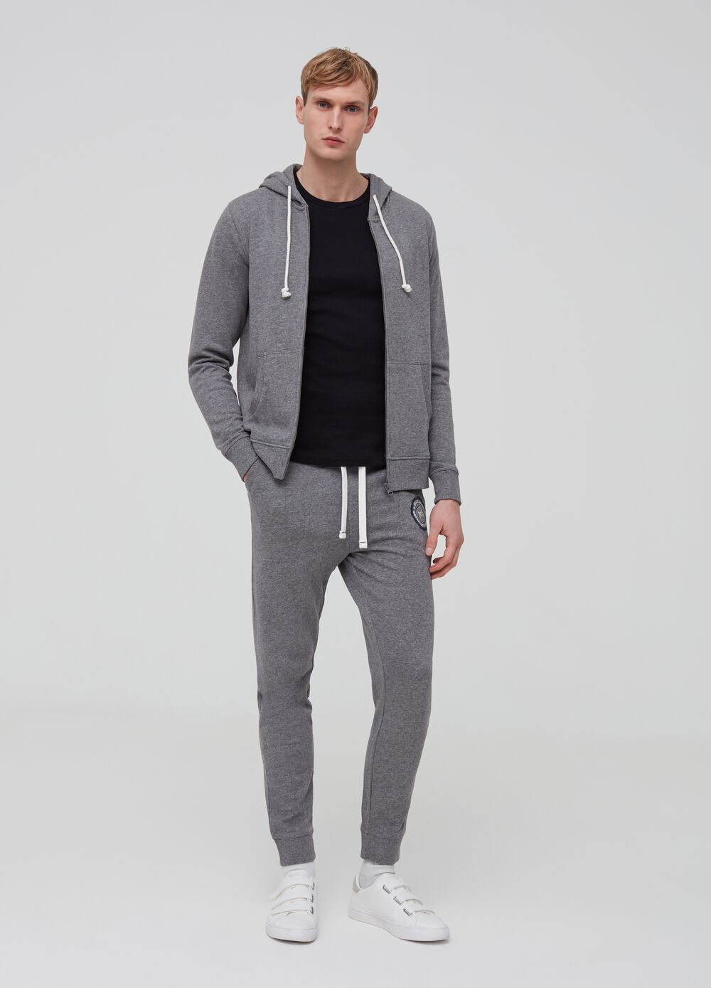 Viscose and organic cotton jogger trousers