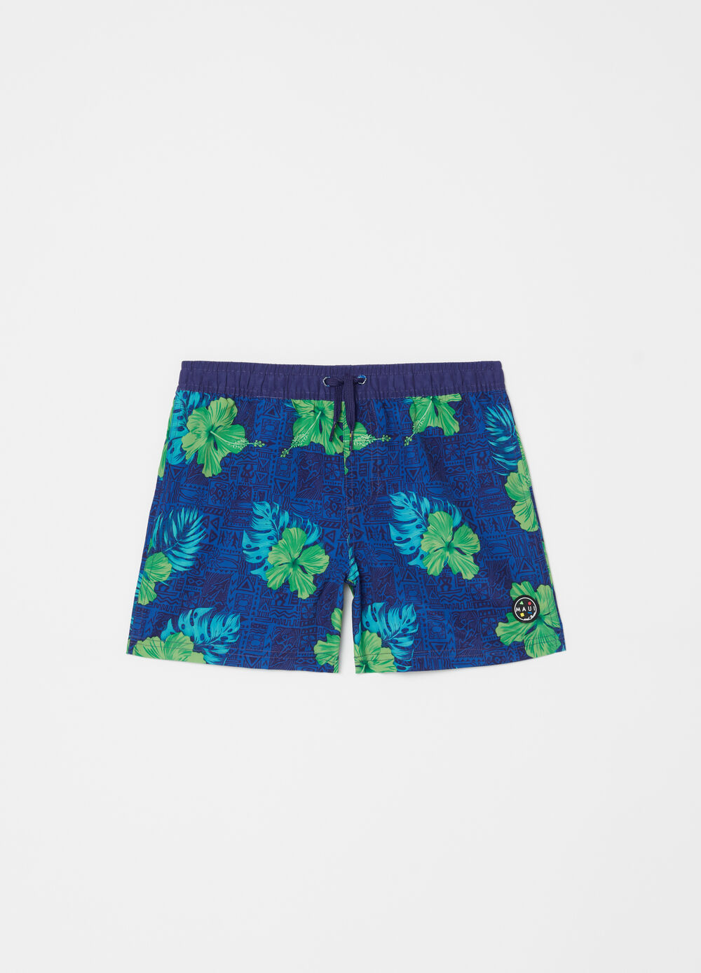 Floral ethnic swim boxer shorts by Maui and Sons