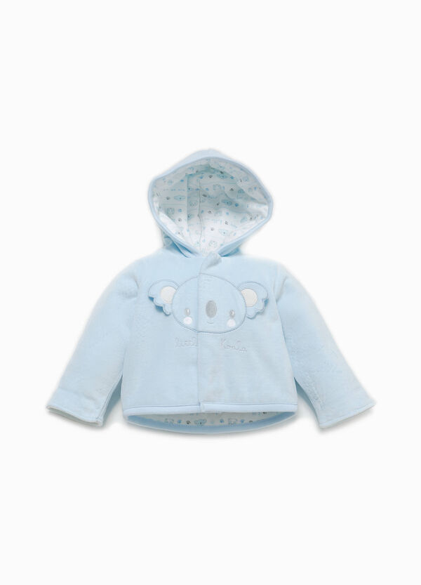 Velour jacket with koala patch | OVS
