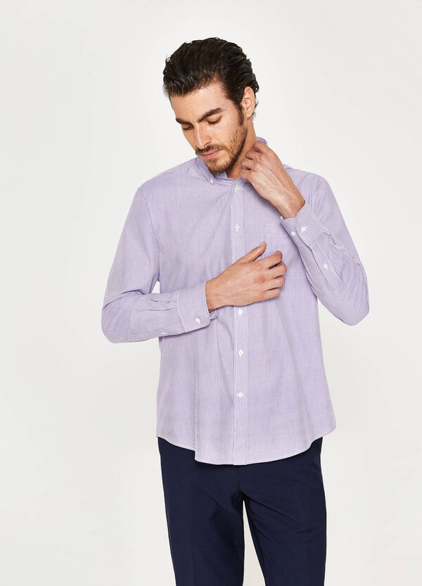 Regular-fit formal shirt in striped pattern