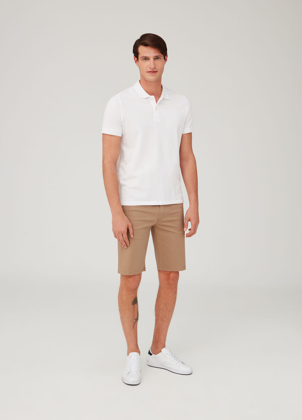Regular-fit stretch shorts with five pockets