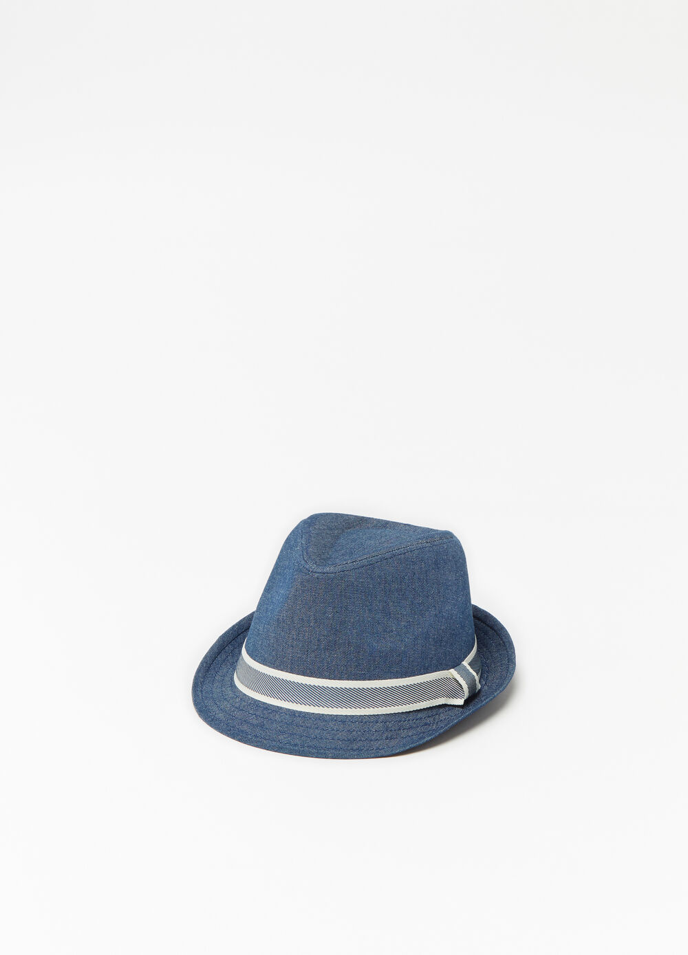 Denim hat with band