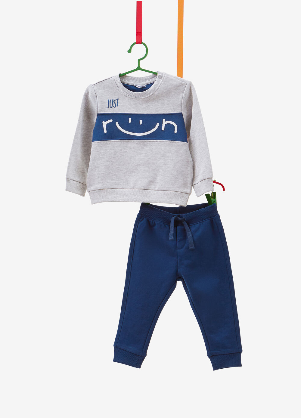 100% cotton tracksuit with insert and print
