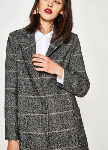 Striped coat with lapels