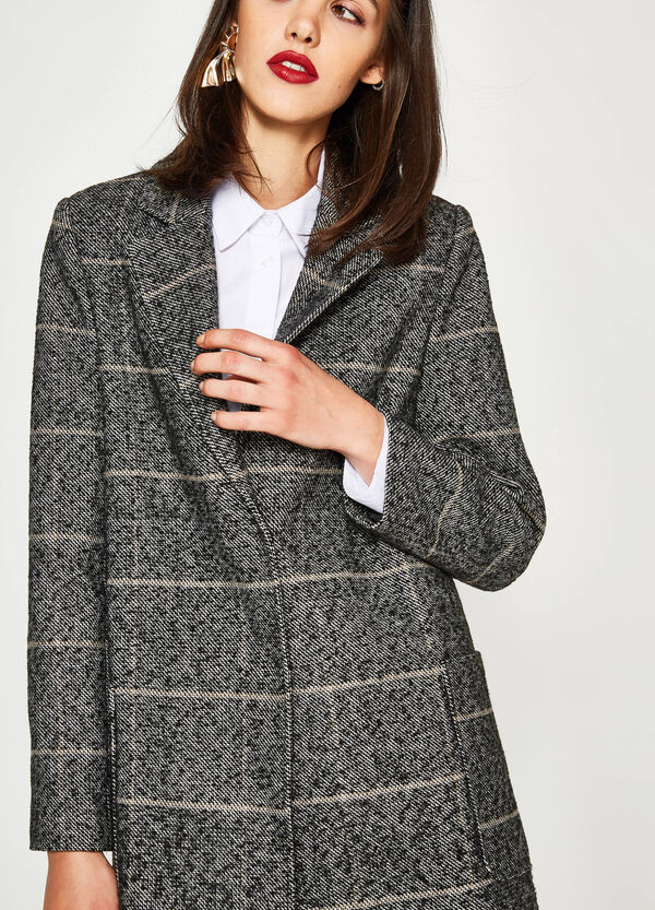 Striped coat with lapels | OVS