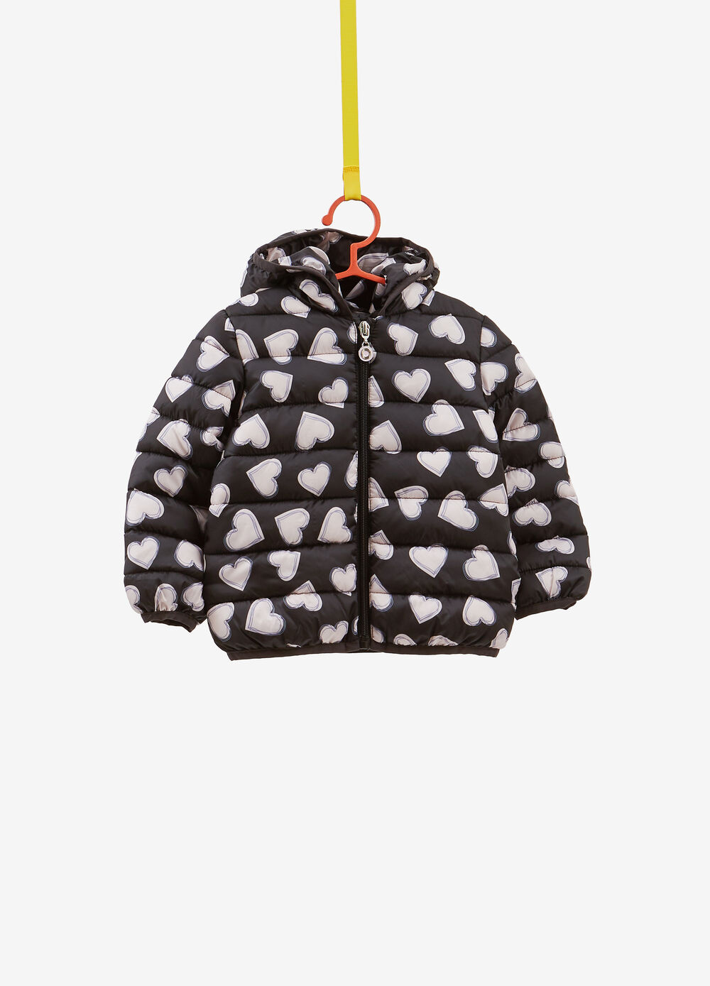 Quilted jacket with heart pattern