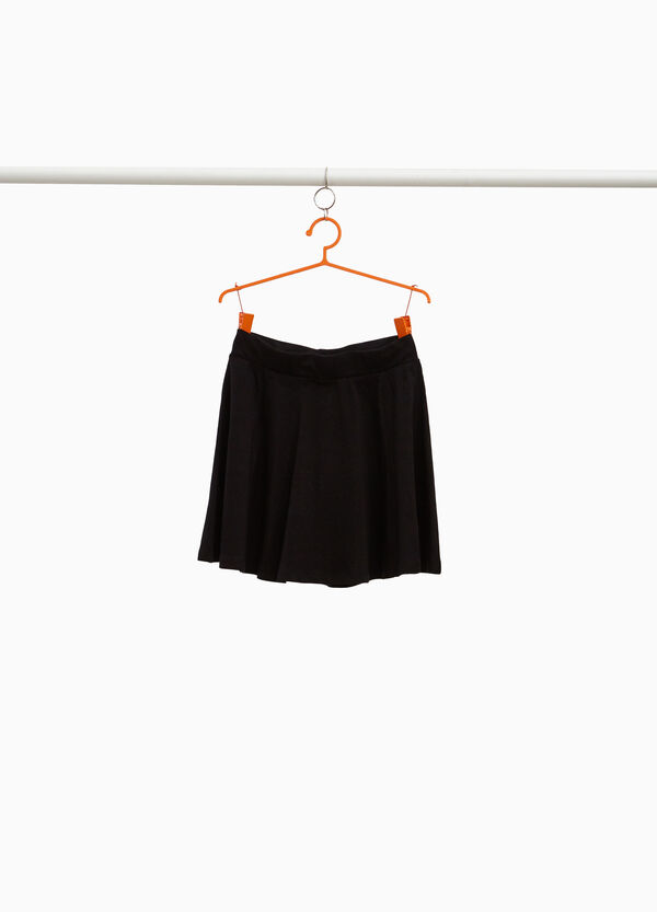 100% cotton skirt with pleated motif