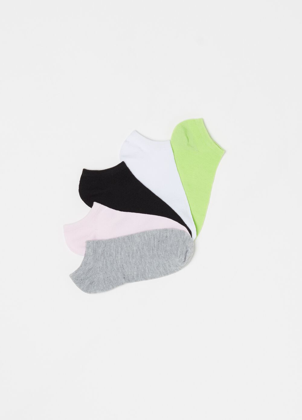 Five-pair pack stretch ankle socks
