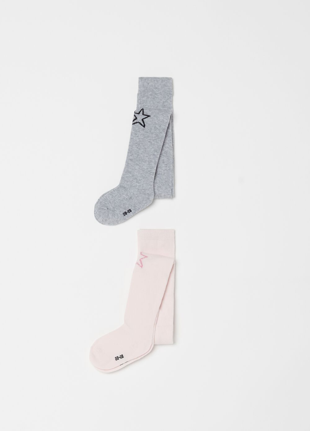 Two-pair pack long stretch socks
