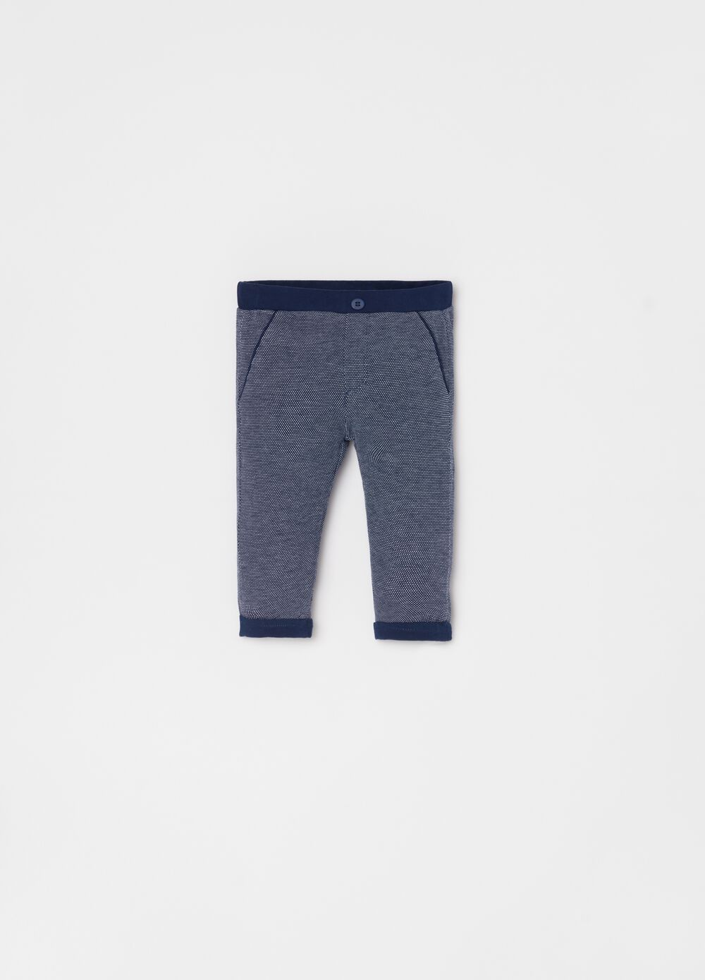 100% organic cotton piquet trousers