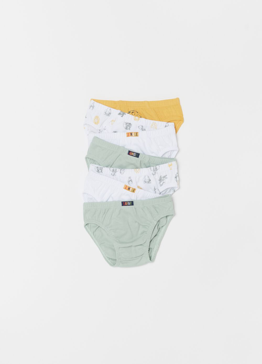 Seven-pack 100% organic cotton briefs with pattern