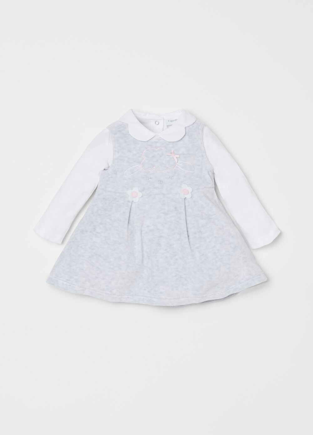 T-shirt and sleeveless dress outfit
