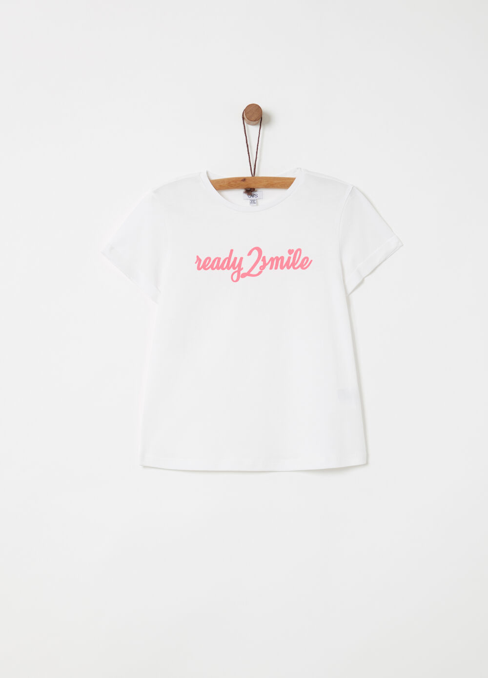 Lightweight jersey T-shirt with lettering