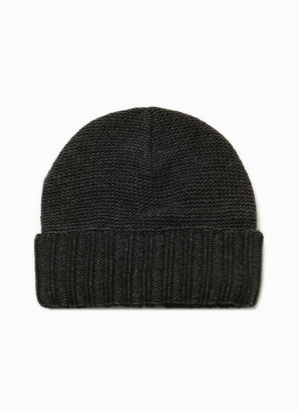 Beanie cap with turn-up