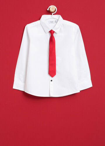 Shirt in 100% cotton with tie