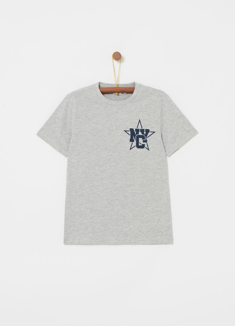 Mélange T-shirt with NYC print