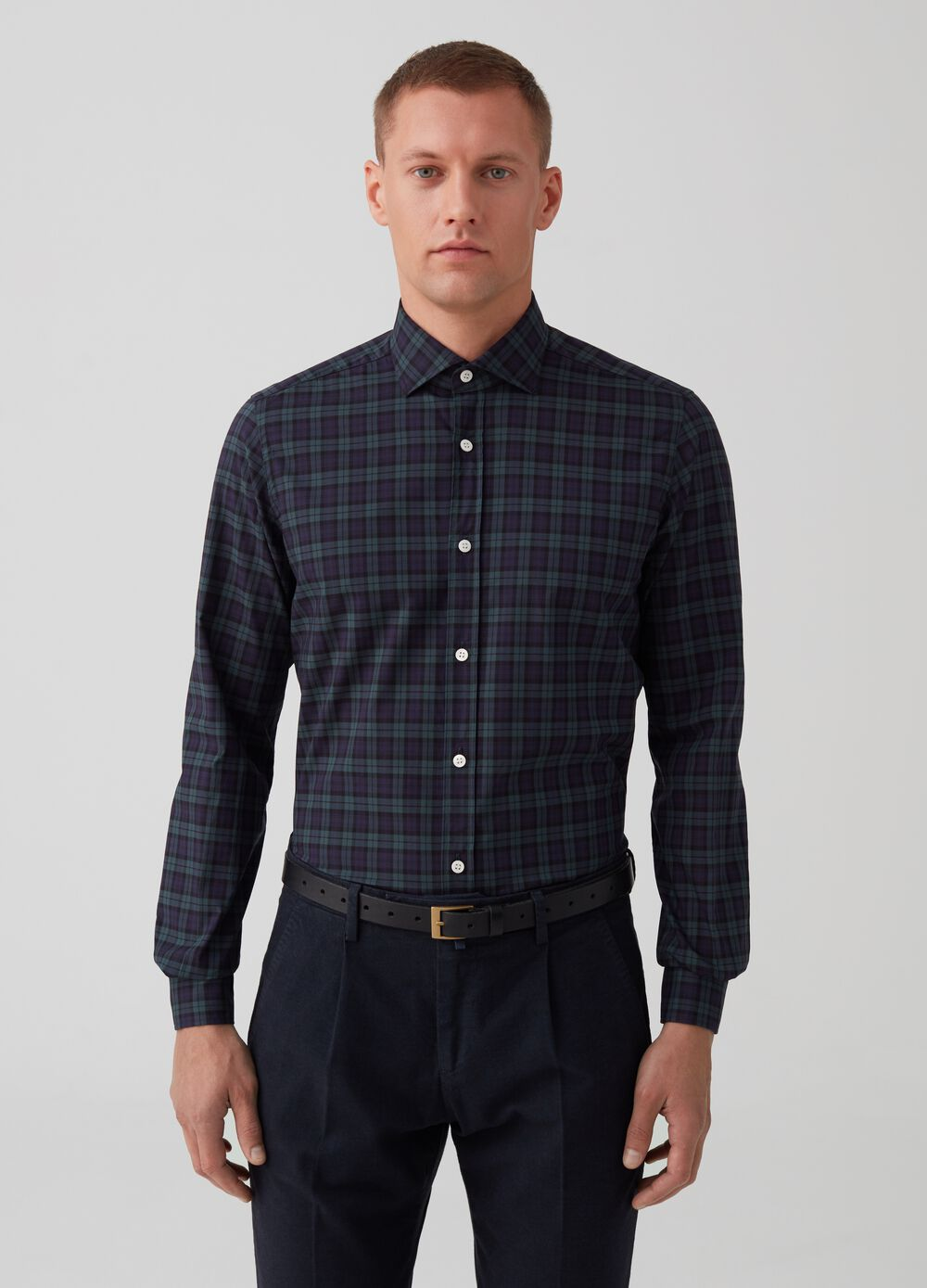 Rumford 100% cotton check shirt