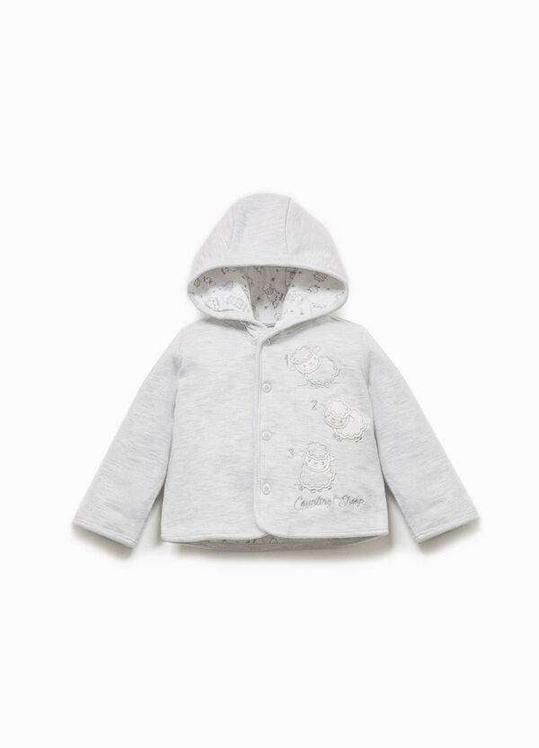 100% cotton jacket with sheep patches