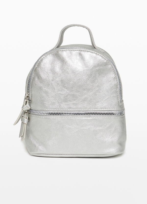 Textured-effect backpack with zip