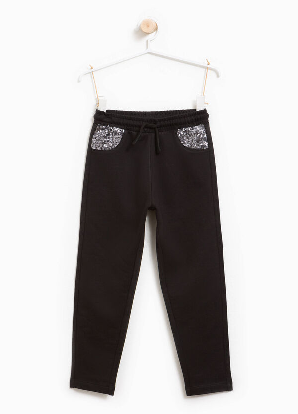 Cotton joggers with sequins | OVS
