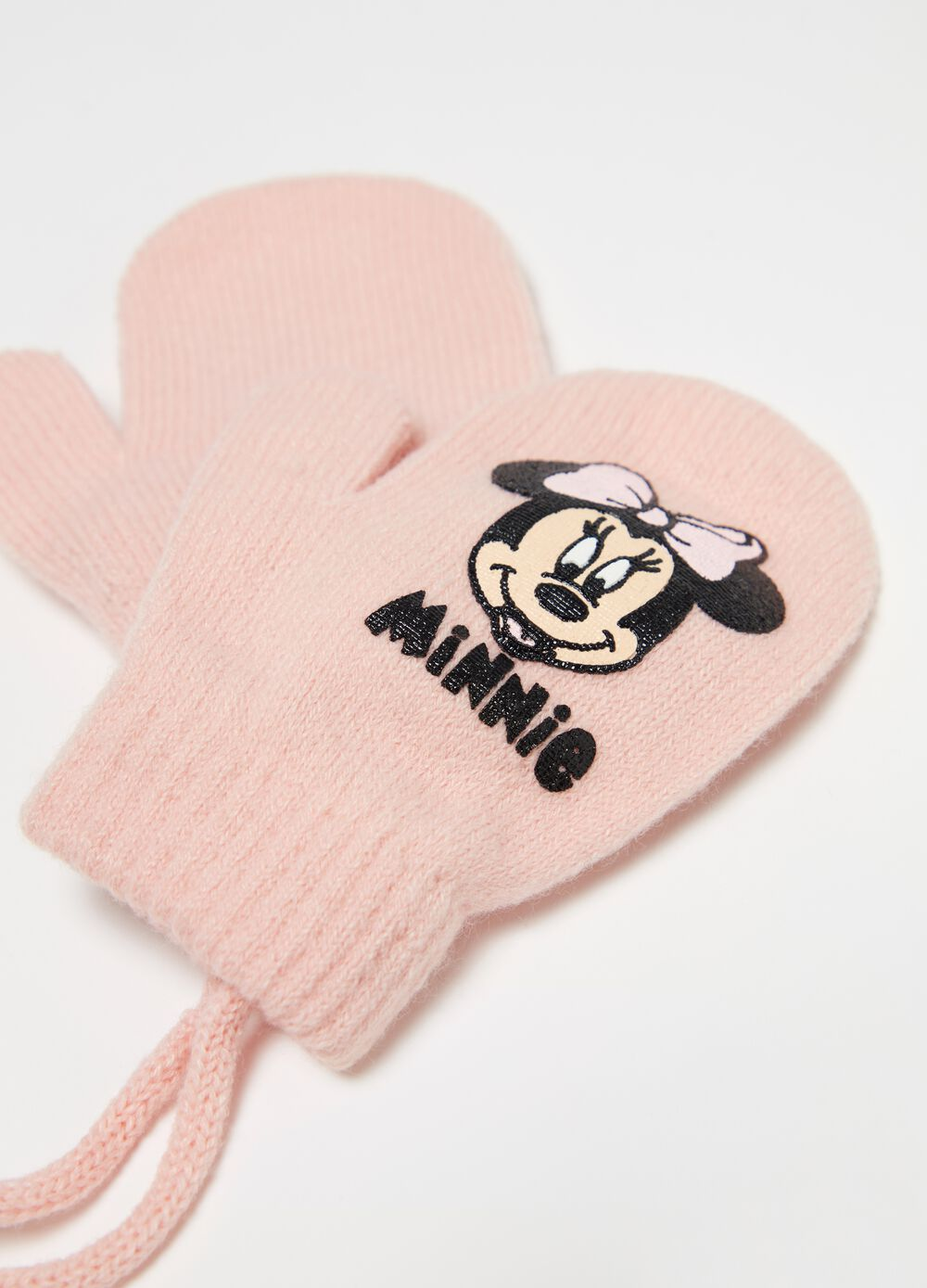 Mittens with glitter Disney Minnie Mouse print