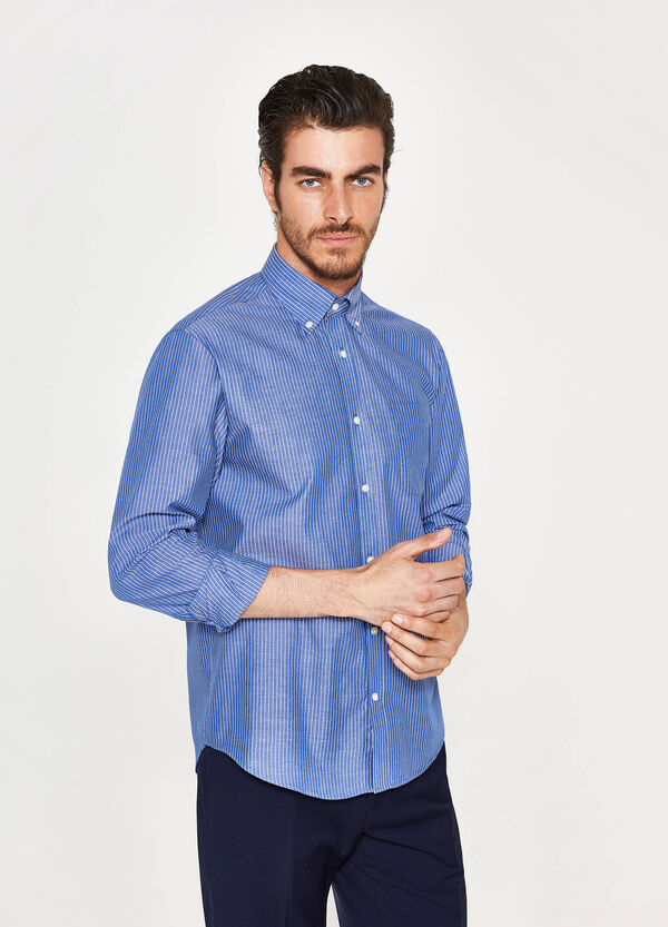 Camicia formale regular fit a righe