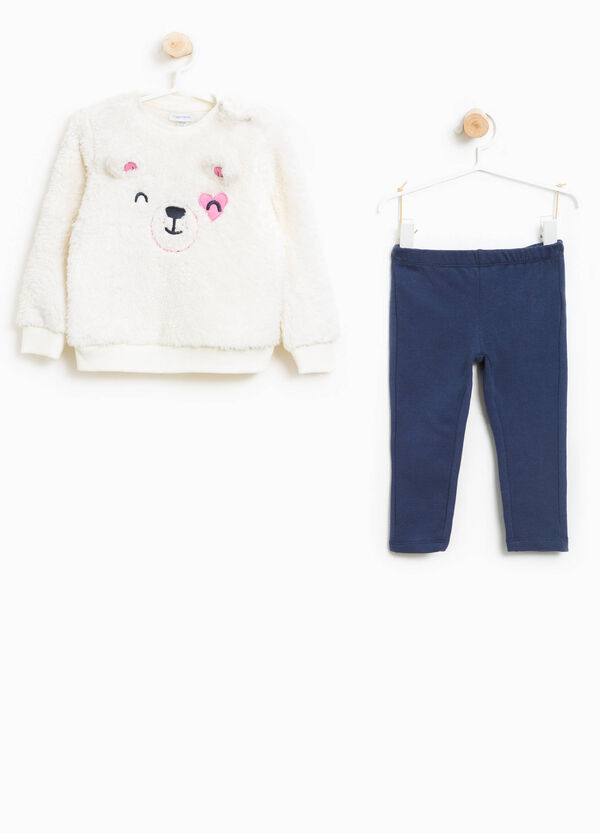 Fur tracksuit with ears and embroidery | OVS