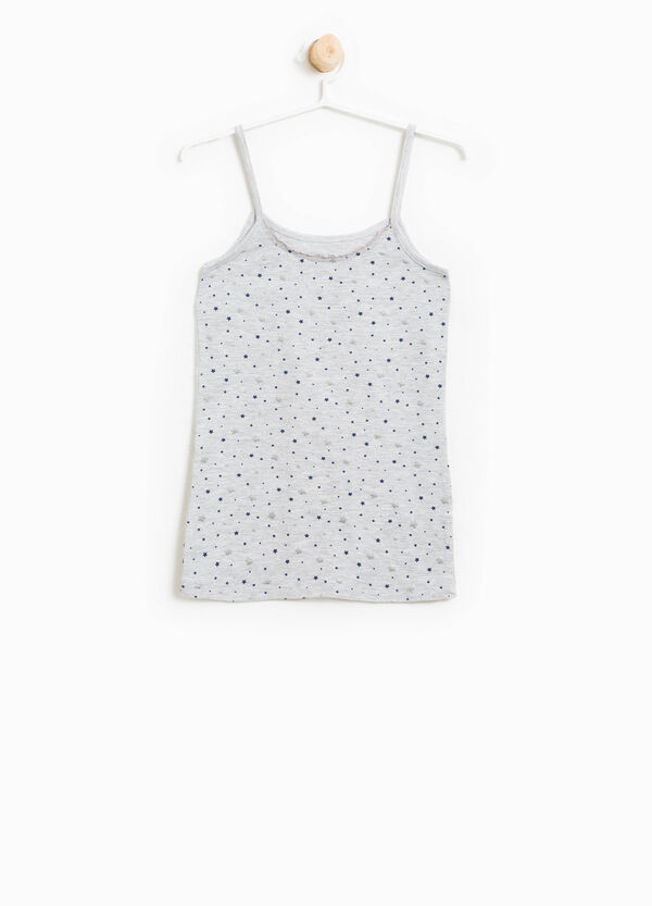 Organic cotton stretch under top with stars | OVS