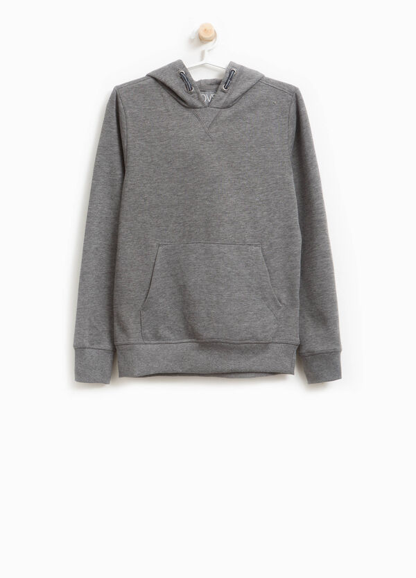 Cotton and viscose mélange sweatshirt